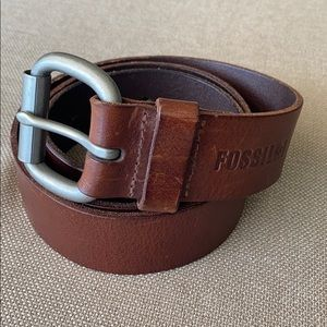 Fossil Dacey Style Tan Burnished Leather Belt